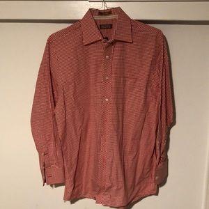 Men's red/white Michael Kors checkered shirt